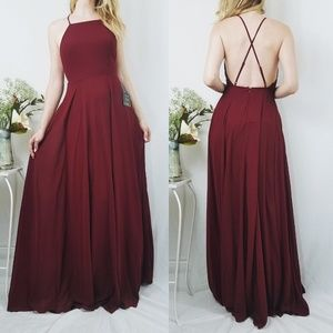 Mythical Kind of Love Wine Red Maxi LuLus Dress